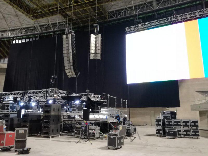 Alquiler de pantallas de lED  para eventos.